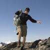 Bruschghorn - Manni stolpert zum Gipfel
