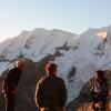 Piz Morteratsch - Pinkelpause auf 3000m Höhe