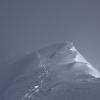 Piz Segnas - Gipfelgrat mit Wechten