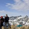 Piz Salteras - Gipfelfoto mit Piz d'Err im Hintergrund