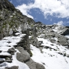 Pizz Gallagiun - Eindrückliche Römertreppen zum Pass Prasignola