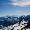 Scalettahorn - Bündner Bergwelt bis hinunter nach Italien
