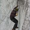 Morteratschgletscher - Daniel beim Eisklettern