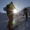 Flüela Wisshorn - Die Sonne zeigt sich bei Punkt 2560m