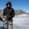 Piz Grialetsch - Lustig, meine Flasche ist den Gletscher runtergerutscht...