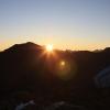 Piz Morteratsch - Sonnenaufgang über der Diavolezza