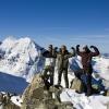 Piz Morteratsch - Gipfelfoto mit Piz Roseg im Hintergrund