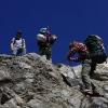 Piz Morteratsch - Schlüsselstelle im Abstieg kurz vor Tschiervahütte