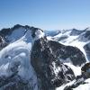 Piz Roseg - Bernina Westwand, jaja dort kann man runterfahren