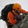 Piz Scerscen - im Notfall mit den Knien klettern