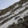 PIz Vallatscha - Schneefeld wird immer steiler